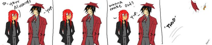Alucard and I.  Pfft..I wish. by HollyLouiseHellsing