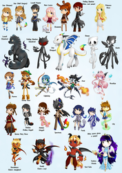 Character Compilation by SilviShinyStar