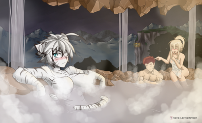 Hot Springs in a cave by Kawa-V