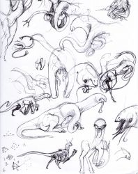 Early Gapuri concept sketches by Iopac