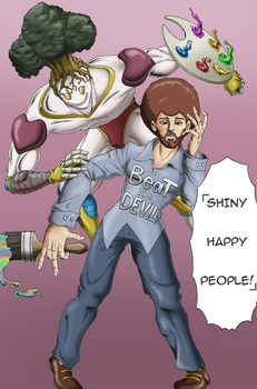 Bob Ross' Bizarre Adventure by LordShmeckie