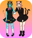 .:UTAU:. The Girl and the Black Cat +UST by Universally-Skullie