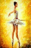 In The Ballet Class by Leonid Afremov by Leonidafremov
