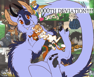 1000th Deviation!!! by Firewolf-Anime