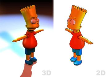 Bart Simpson - Tutorial C4D by Buttercookie