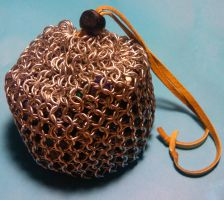 Chainmaille Dice Bag (full) by unanimatedew