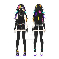 My OC - Neon Shadow (Front and back view) by Dany-Tactician