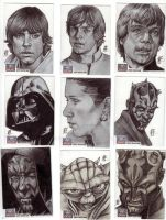 Star Wars Galaxy 7 Artist Sketch Cards - 1 by prmedia