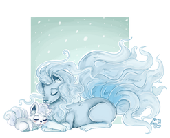 alolan vulpix and ninetales by superlucky13