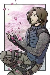 Commission - Bucky Cherry Blossoms by DeanGrayson