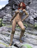 Red Headed Warrior by Redrobot3D