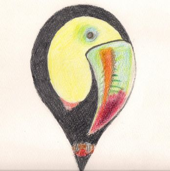 tucan in a raindrop by hagymusz