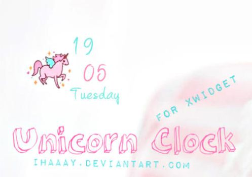 Unicorn Clock by iHaaay by iHaaay