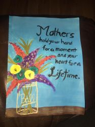 Mothers Day painting  by veturialuv