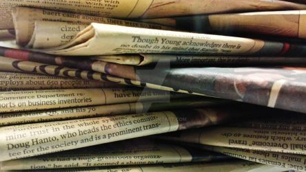 Stack of Old Newspapers 2 by Lewna
