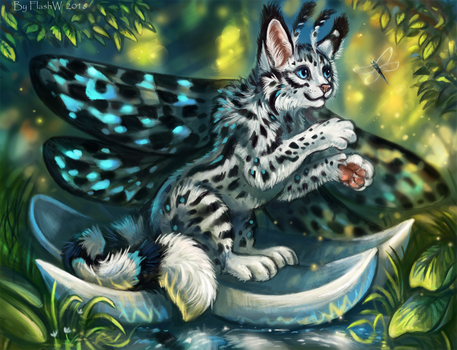 The cat moth by FlashW