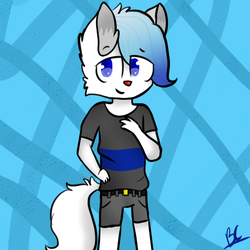 Art Trade With Dropfoxplaysgalaxy by puppylover17YT45