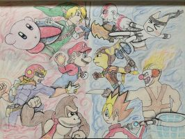 Super Smash Bros VS Playstation All Stars by outerbluefox
