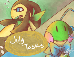 ''Little Problem'' : July Tasks by Chibi-Castform