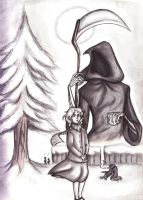 The Book Thief: White by sunni-sideup