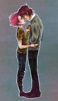Tonks and Lupin by yurixmeister