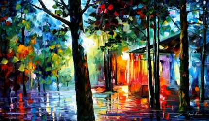 Sunlight in the Drops by Leonid Afremov by Leonidafremov