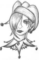 Jester Gal - Pencil Sketch by InfinitiesEnd