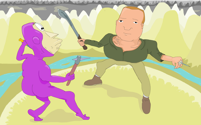 Bobby Hill finally duck out Buzz Lightyear by Sikojensika