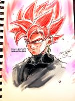 Goku black rose plus sketch video by Mark-Clark-II