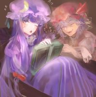 patchouli and remilia by Rihori