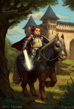 Flyn - Halfling Paladin by toshi13go