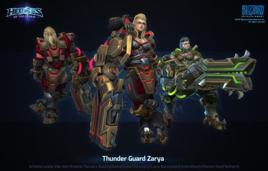 Hots Thunder Guard Zarya by polydrawer