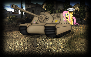 wallpaper: WOT/MLP crossover (screen 4) by crasydwarf