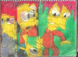 Sideshow Bob and Bart 3 by RozStaw57
