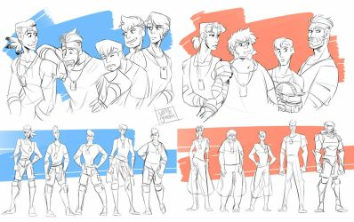 Red vs Blue - Height Charts by YAMsgarden