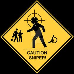 Caution Sniper by aowTNT