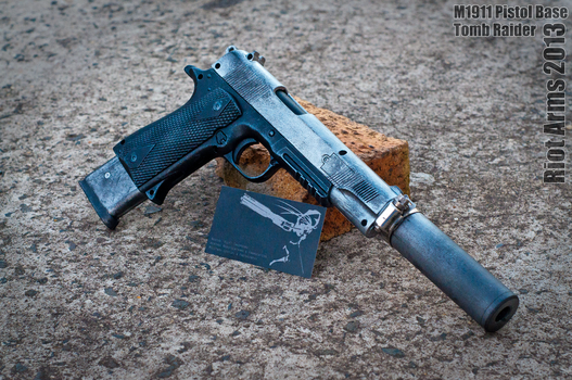 Riot Arms Commission #1: Tomb Raider 2013 m1911 by newti