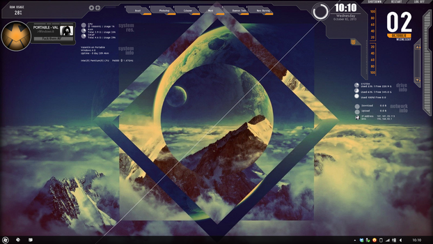 Win 8 Rainmeter config by valentin2105