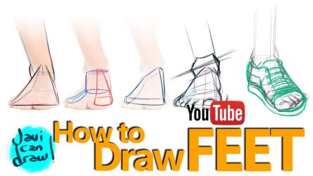 HOW TO DRAW FEET: A YouTube Tutorial by javicandraw