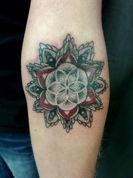 Flower Of Life on skin. by Hudu85
