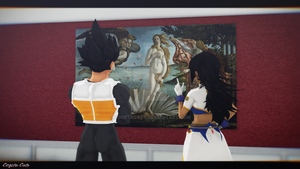 MMD - a couple at the museum by CogetaCats