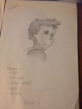 Attempt to draw Peeta by PnkPnther