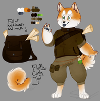 [AUCTION ADOPT - closed] Akita Traveler by shujuju