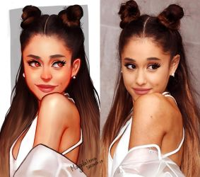 Ariana Grande art vs reality by MAGZ0