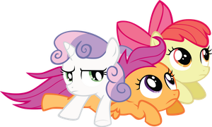 Cutie Mark Crusaders Stackable Ponies! YAY! by PDPie