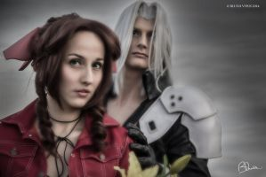Aerith and Sephiroth cosplay by MademoiselleDaae
