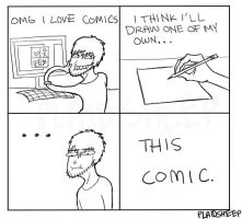 Making A Comic by PlaidSheep