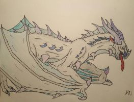 Freozzien, the Silver Wyvern by aerithedrgn