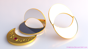 3D Moon - Crescent Moon Compact by Hybryda
