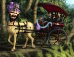 Centaur Carriage Ride (commission) by Destinyfall